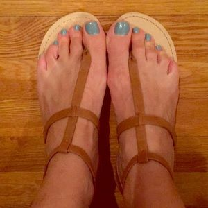 NWT brown strap sandals from LOFT